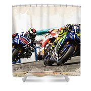 Rossi Leading The Pack Shower Curtain