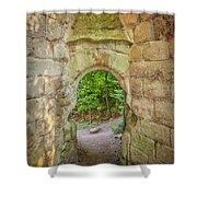Rosslyn Castle Forest Entry Shower Curtain