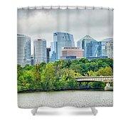 Rosslyn Distric Arlington Skyline Across River From Washington D Shower Curtain