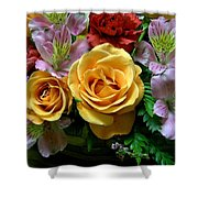 Rosy Bouquet Shower Curtain