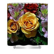 Rosy Bouquet Watercolor Shower Curtain