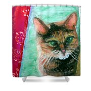 Rosy In Color Shower Curtain