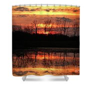 Rosy Mist Sunrise Shower Curtain