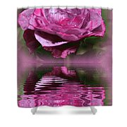 Rosy Reflection Shower Curtain