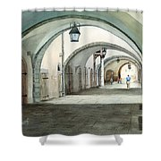 Rothenburg Backstreet Shower Curtain