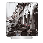 Rothenburg Cafe - Digital Shower Curtain