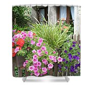 Rothenburg Flower Box Shower Curtain