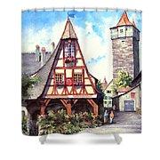Rothenburg Memories Shower Curtain