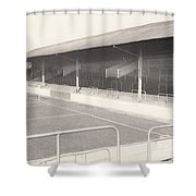 Rotherham - Millmoor - Railway End 1 - Bw - April 1970 Shower Curtain