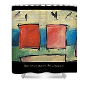 Rothko Meets Hitchcock - Poster Shower Curtain
