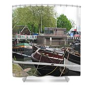 Rotterdam Silence By The Docks Shower Curtain