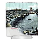 Rotterdam Oude Willemsbrug 1890 Shower Curtain