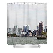 Rotterdam Skyline With Euromast  Shower Curtain
