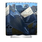 Rotterdam - The Cube Houses And Skyline Shower Curtain