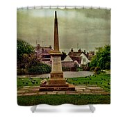 Rottingdean War Memorial And Village Common Shower Curtain