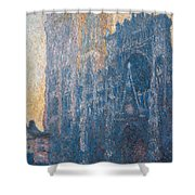 Rouen Cathedral, The Portal, Morning Shower Curtain