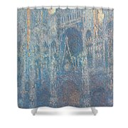 Rouen Cathedral, The Portal, Morning Light Shower Curtain