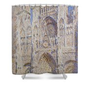 Rouen Cathedral, The Portal, Sunlight Shower Curtain