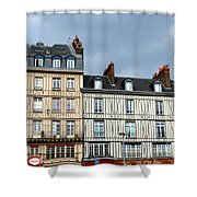 Rouen Half Timbered 24 Shower Curtain