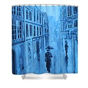 Rouen In The Rain Shower Curtain