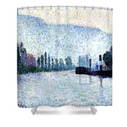 Rouen La Seine Et Les Collines Canteleu 1887 Shower Curtain