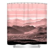 Rouge Hills Of The Tonto Shower Curtain