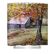 Rouge Red Chimney Shower Curtain