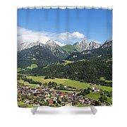 Rougemont Village In Switzerland Shower Curtain