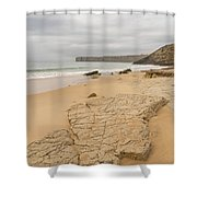 Rough But Golden At The End Of The World Shower Curtain