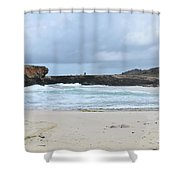 Rough Churning Waters Off The Coast Of Aruba Shower Curtain