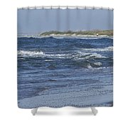 Rough Day At The Beach Shower Curtain