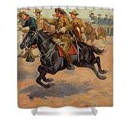 Rough Riders Cavalry Shower Curtain