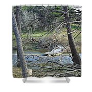 Rough River At Times  Shower Curtain