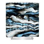 Rough Sea Shower Curtain