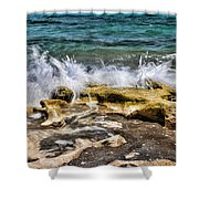 Rough Seas At Blowing Rock Shower Curtain