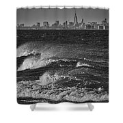 Rough Water Shower Curtain