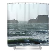 Rough Waters Shower Curtain