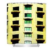Round Balconies Shower Curtain