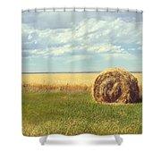 Round Bale  Shower Curtain