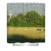 Round Bales Shower Curtain