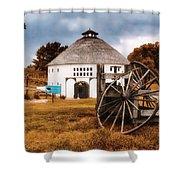Round Barn Shower Curtain