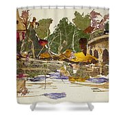 Round Bridge Shower Curtain