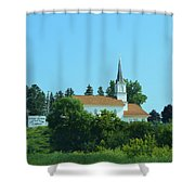 Round Prairie Lutheran Shower Curtain
