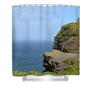 Round Stone Tower Refferred To As O'brien's Tower In Ireland Shower Curtain
