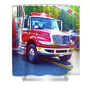 Round Top Vol. Fire Co. Inc. New York 6 Shower Curtain