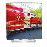 Round Top Vol. Fire Co. Inc. New York 7 Shower Curtain