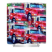Round Top Vol. Fire Co. Inc. New York 8 Shower Curtain