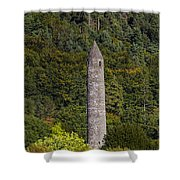 Round Tower At Glendalough Shower Curtain
