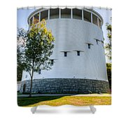 Round Water Tank Bangor Shower Curtain
