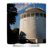 Round Water Tank In The Sun Shower Curtain